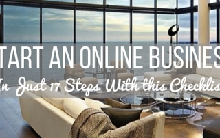 start an online business checklist